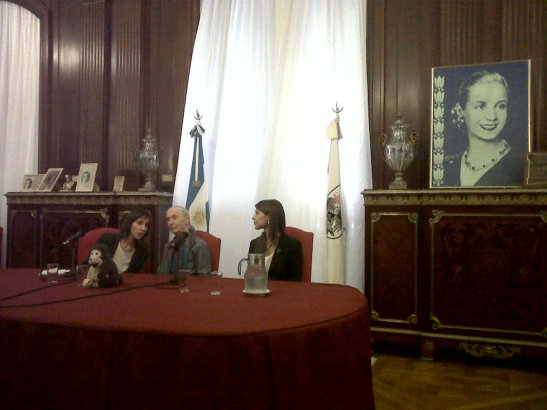 Jane en el Salon Eva Peron